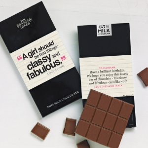 Fashion Lovers Quotation chocolate bar